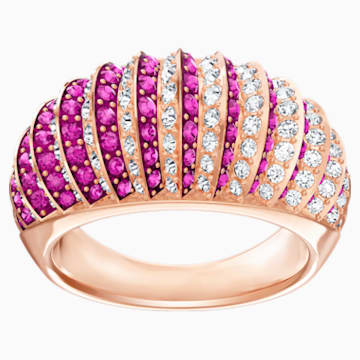 Luxury Domed Ring, Pink, Rose-gold tone plated - Swarovski, 5412020