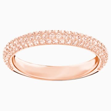Anello Stone, rosa, Placcato oro rosa - Swarovski, 5412022
