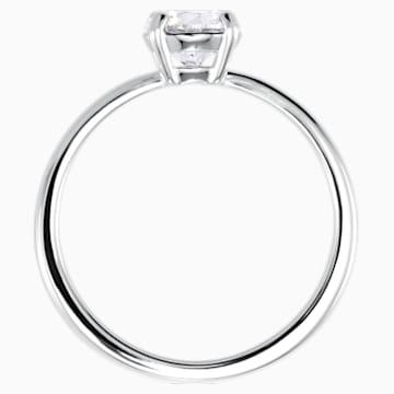 Attract Кольцо, Белый Кристалл, Родиевое покрытие - Swarovski, 5412078