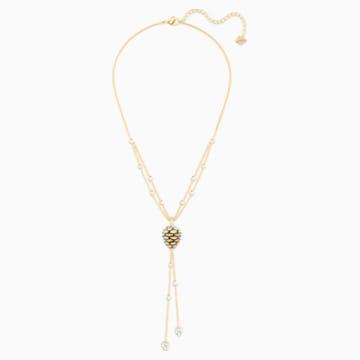 Mandarin Pinecone Y Necklace, Multi-colored, Gold-tone plated - Swarovski, 5412312