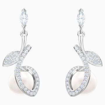 Leonore Pierced Earrings, Multi-coloured, Rhodium plated - Swarovski, 5412639
