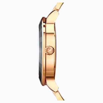 Octea Lux Watch, Metal bracelet, Black, Rose-gold tone PVD - Swarovski, 5414419