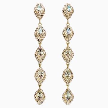 Boucles d'oreilles drop Moselle Mini, métal doré - Swarovski, 5414435
