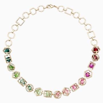 Collar Mary Katrantzou Nostalgia, multicolor, Baño en tono Oro - Swarovski, 5414522