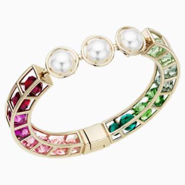 Bracelet-jonc Mary Katrantzou Nostalgia, multicolore, métal doré - Swarovski, 5414533
