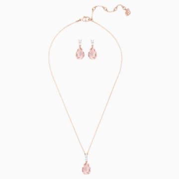 Vintage Комплект, Розовый Кристалл, Покрытие оттенка розового золота - Swarovski, 5414695
