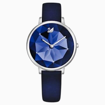 Crystal Lake karóra, bőrszíj, kék, nemesacél - Swarovski, 5416006