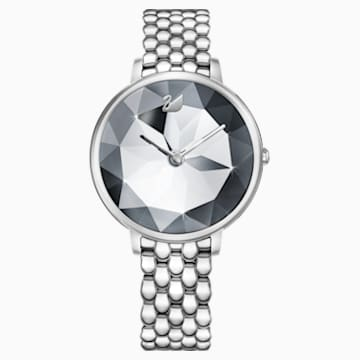 Crystal Lake Watch, Metal bracelet, White, Stainless steel - Swarovski, 5416017