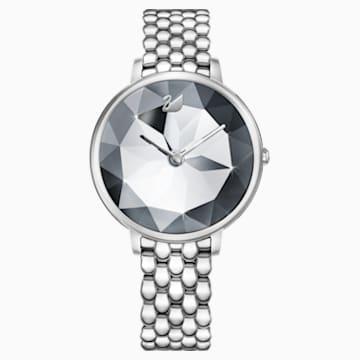 Orologio Crystal Lake, Bracciale di metallo, bianco, acciaio inossidabile - Swarovski, 5416017