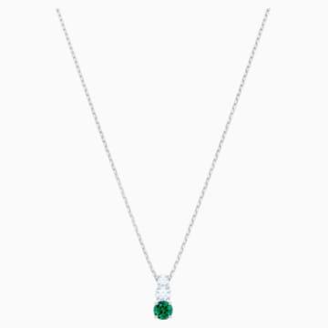 Wisiorek Attract Trilogy Round, zielony, powlekany rodem - Swarovski, 5416153