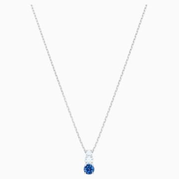 Attract Trilogy Round Anhänger, blau, Rhodiniert - Swarovski, 5416156