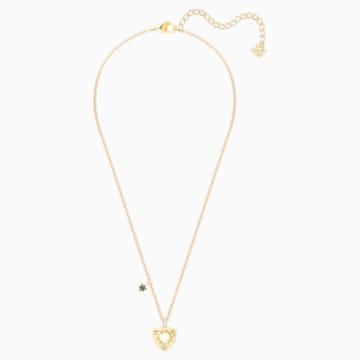 Mastery Pendant, Teal, Gold-tone plated - Swarovski, 5416568