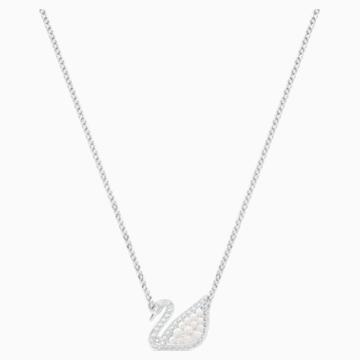 Naszyjnik Swarovski Iconic Swan, biały, powlekany rodem - Swarovski, 5416605