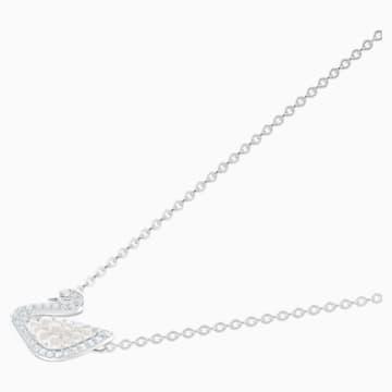 Collana Swarovski Iconic Swan, bianco, Placcatura rodio - Swarovski, 5416605
