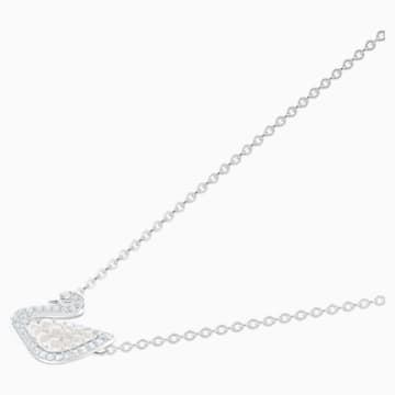 Swarovski Iconic Swan 項鏈, 白色, 鍍白金色 - Swarovski, 5416605