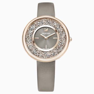Zegarek Crystalline Pure, pasek ze skóry, powłoka PVD w odcieniu szampańskiego złota - Swarovski, 5416704