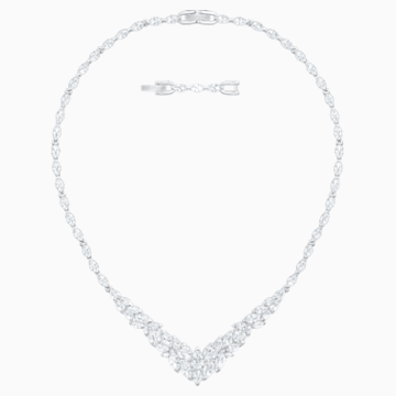 Collier Louison, blanc, Métal rhodié - Swarovski, 5419234