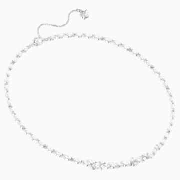 Collana Louison, bianco, Placcatura rodio - Swarovski, 5419235