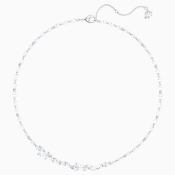 Louison Necklace, White, Rhodium plated - Swarovski, 5419235