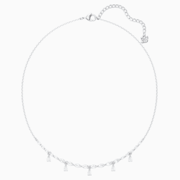 Louison Necklace, White, Rhodium plated - Swarovski, 5419242