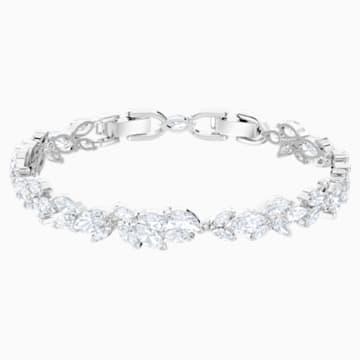 Louison 手链, 白色, 镀铑 - Swarovski, 5419244
