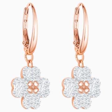 Boucles d'oreilles Latisha, blanc, Métal doré rose - Swarovski, 5420249