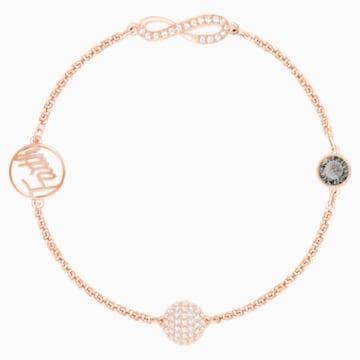 Swarovski Remix Collection Infinity Strand, Черный Кристалл, Покрытие оттенка розового золота - Swarovski, 5421441