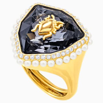 Magnetic Cocktail Ring, Multi-coloured, Gold-tone plated - Swarovski, 5423174
