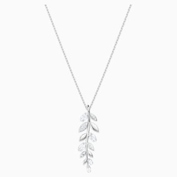 Mayfly medál, fehér, ródium bevonattal - Swarovski, 5423184