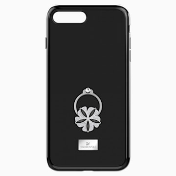 Mazy ring Smartphone Case with integrated Bumper, iPhone® 8 Plus, Black - Swarovski, 5423484