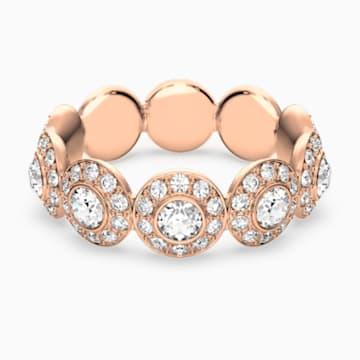 Anello Angelic, bianco, Placcato oro rosa - Swarovski, 5424994