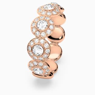 Angelic-ring, Wit, Roségoudkleurige toplaag - Swarovski, 5424994