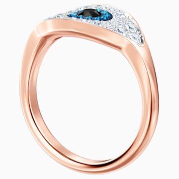 Anello Swarovski Symbolic Evil Eye, blue, placcato oro rosa - Swarovski, 5425858