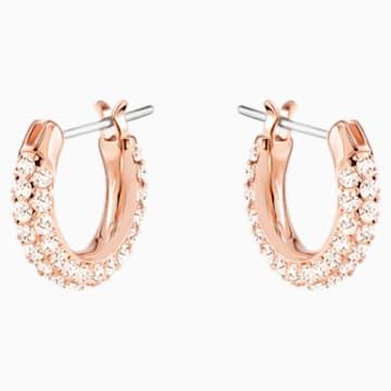 Stone 穿孔耳環套裝, 粉紅色, 鍍玫瑰金色調 - Swarovski, 5426004