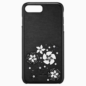 Coque rigide pour smartphone avec cadre amortisseur intégré Mazy, iPhone® 8 Plus, noir - Swarovski, 5427021