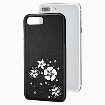 Funda para smartphone con protección integrada Mazy, iPhone® 8 Plus, negro - Swarovski, 5427021