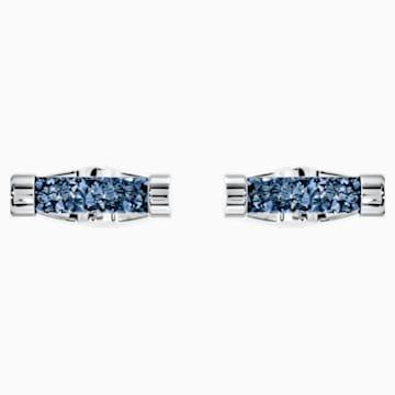 Crystaldust Cufflinks, Blue, Stainless steel - Swarovski, 5427116