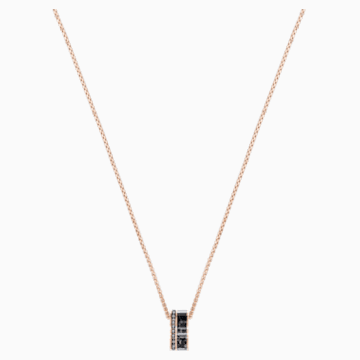 Alto Pendant, Grey, Rose-gold tone plated - Swarovski, 5427127