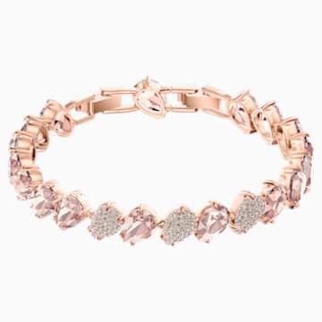 Mix Bracelet, Pink, Rose-gold tone plated - Swarovski, 5427973