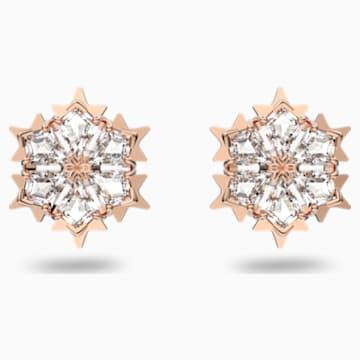 Boucles d'oreilles Magic, blanc, métal doré rose - Swarovski, 5428429