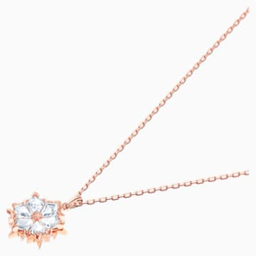Magic 链坠, 白色, 镀玫瑰金色调 - Swarovski, 5428431