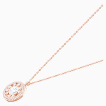 Admiration Pendant, White, Rose-gold tone plated - Swarovski, 5428656