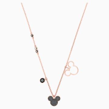 米奇与米妮 鏈墜, 多色設計, 鍍玫瑰金色調 - Swarovski, 5429081