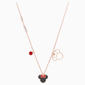 Mickey & Minnie Pendant, Multi-colored, Rose-gold tone plated - Swarovski, 5429090