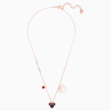 米奇与米妮 鏈墜, 多色設計, 鍍玫瑰金色調 - Swarovski, 5429090