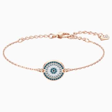 Luckily Bracelet, Multi-colored, Rose-gold tone plated - Swarovski, 5429128