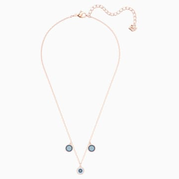 Luckily Choker, Multi-colored, Rose-gold tone plated - Swarovski, 5429129