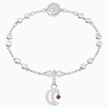 Swarovski Remix Collection Moon Charm, White, Rhodium plated - Swarovski, 5429774