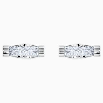 Crystaldust-manchetknopen, Wit, Roestvrij staal - Swarovski, 5429896
