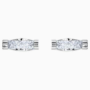Manžetové knoflíky Crystaldust, bílé, nerezová ocel - Swarovski, 5429896